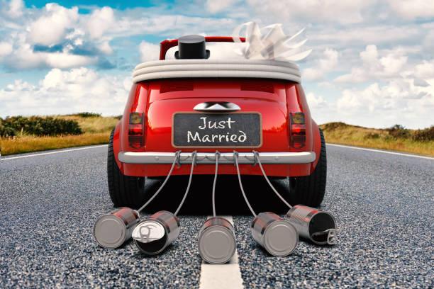just married - nygift bildbanksfoton och bilder