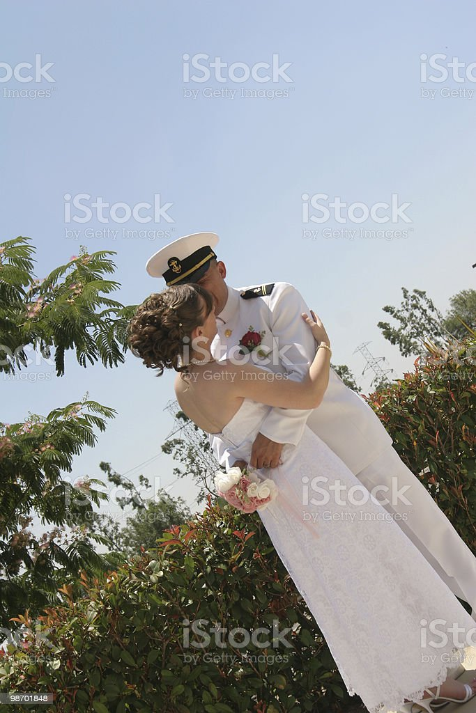 Just married foto stock royalty-free