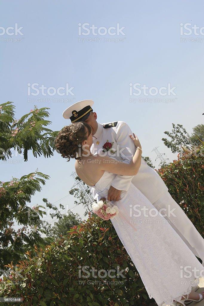 방금 결혼했나요 royalty-free 스톡 사진