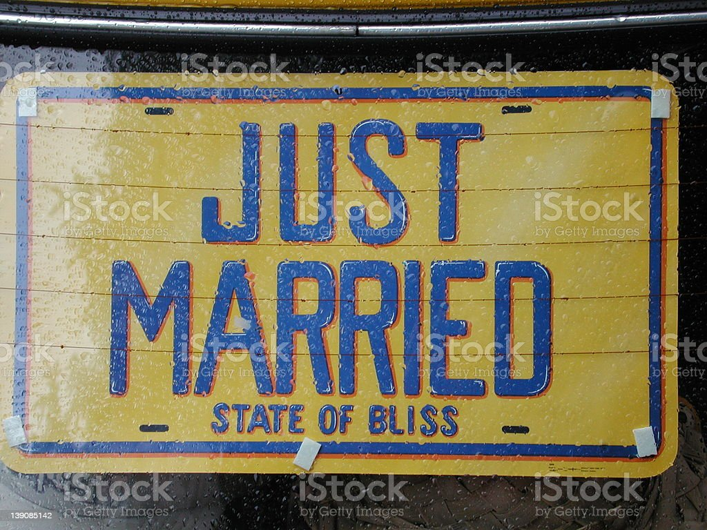 just married sign royalty-free stock photo