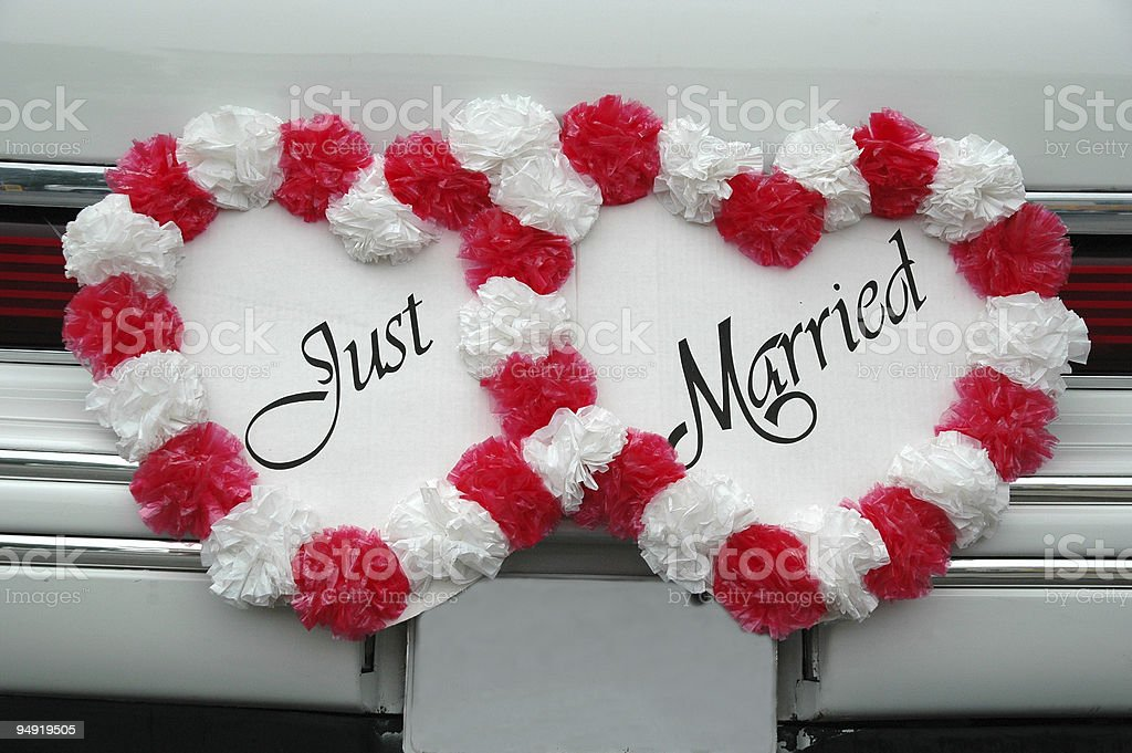 Just married1 royalty-free stock photo