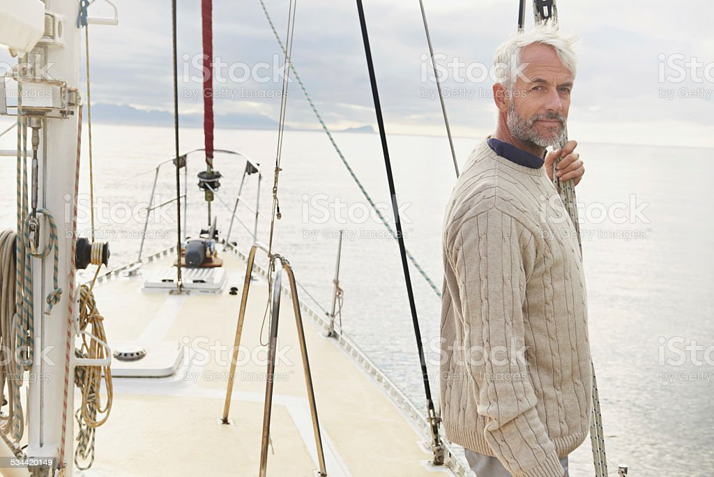Just me and the open sea stock photo