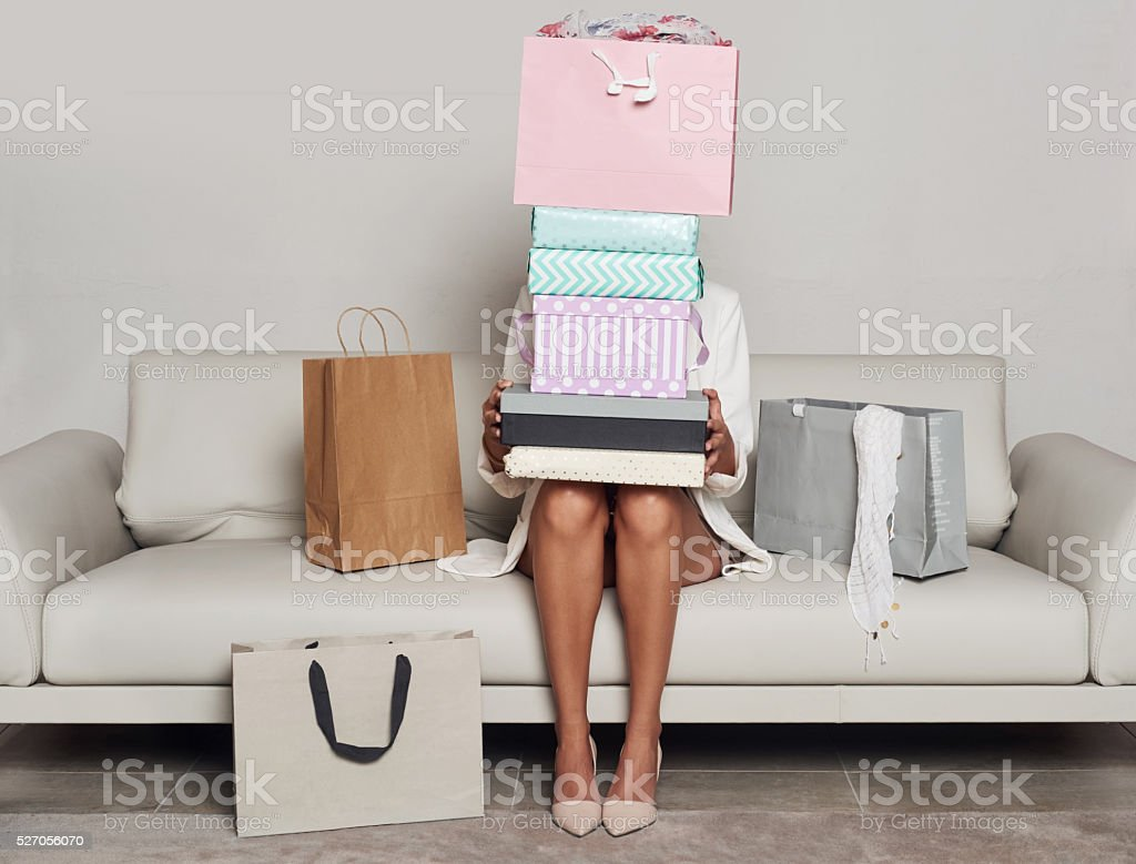 I just need it all! stock photo