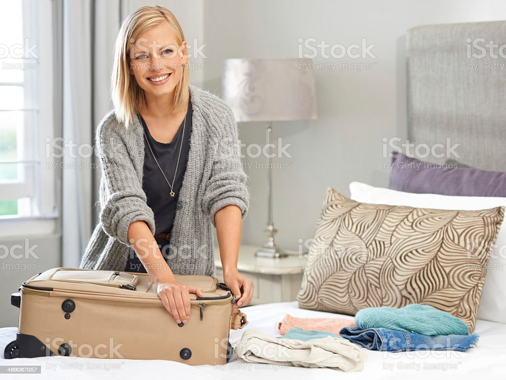 Just packing the last of my things stock photo
