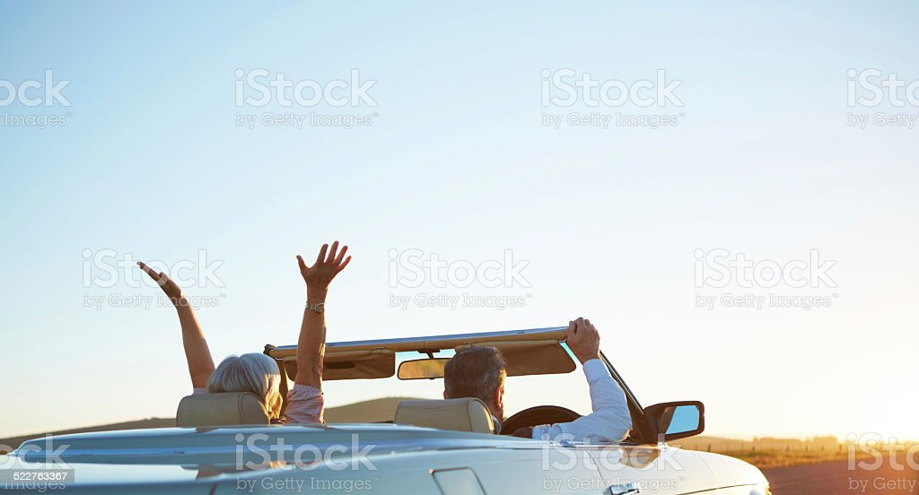 Just pick a direction and drive stock photo