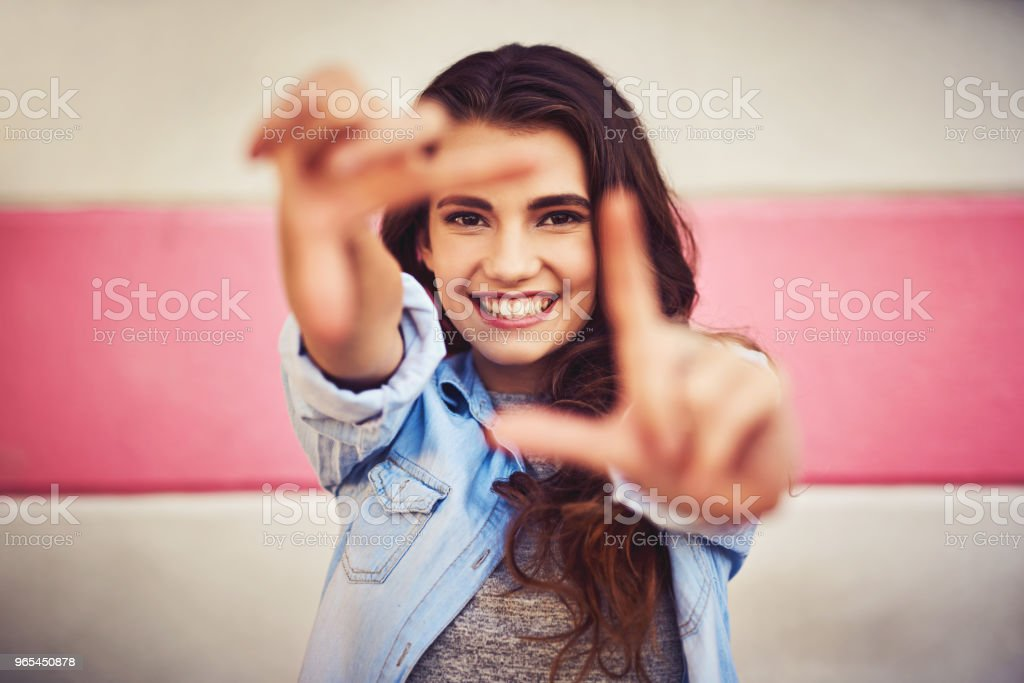 Just picture yourself being happy in your life royalty-free stock photo