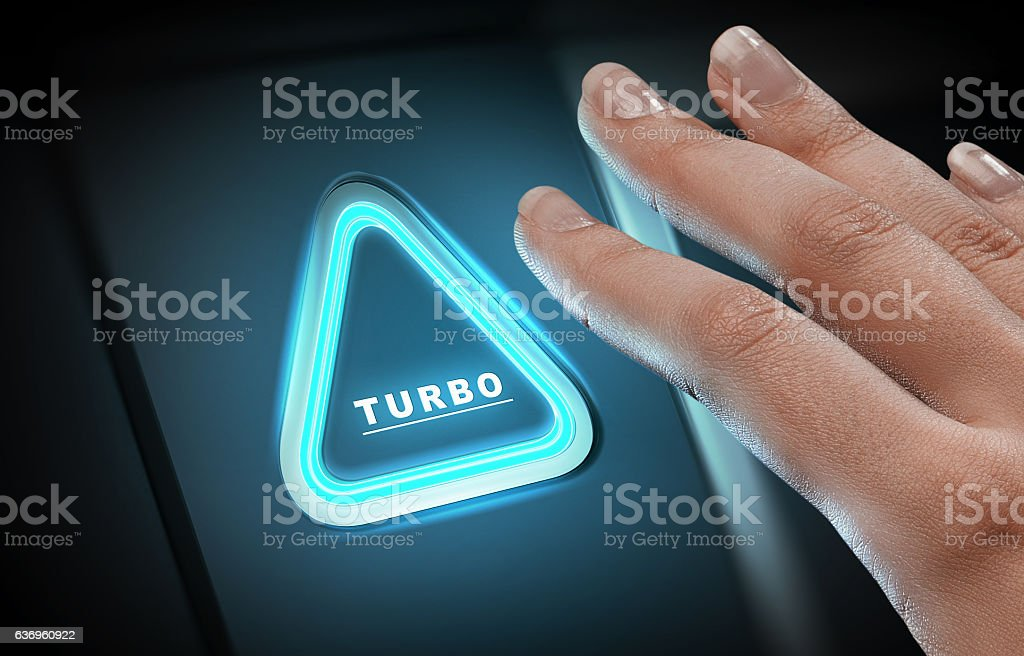 Just push the button . Mixed media stock photo