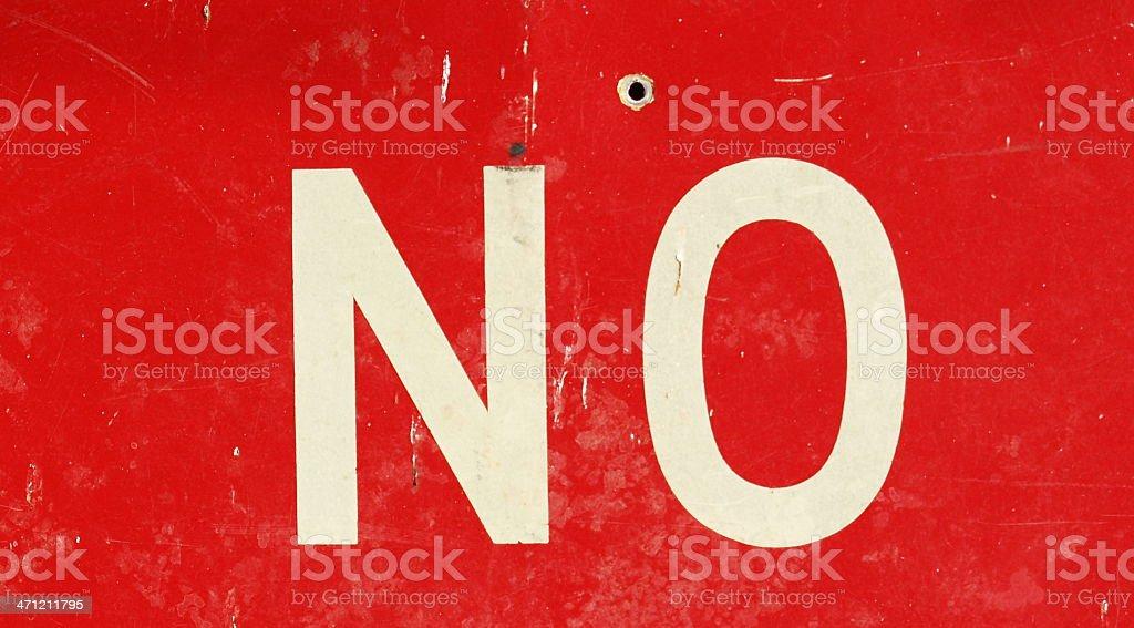 Just Say No royalty-free stock photo