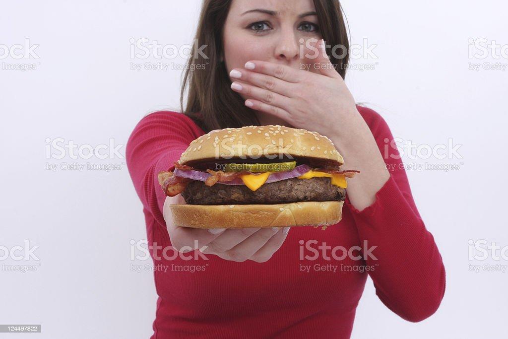 just say no to burger!!! royalty-free stock photo