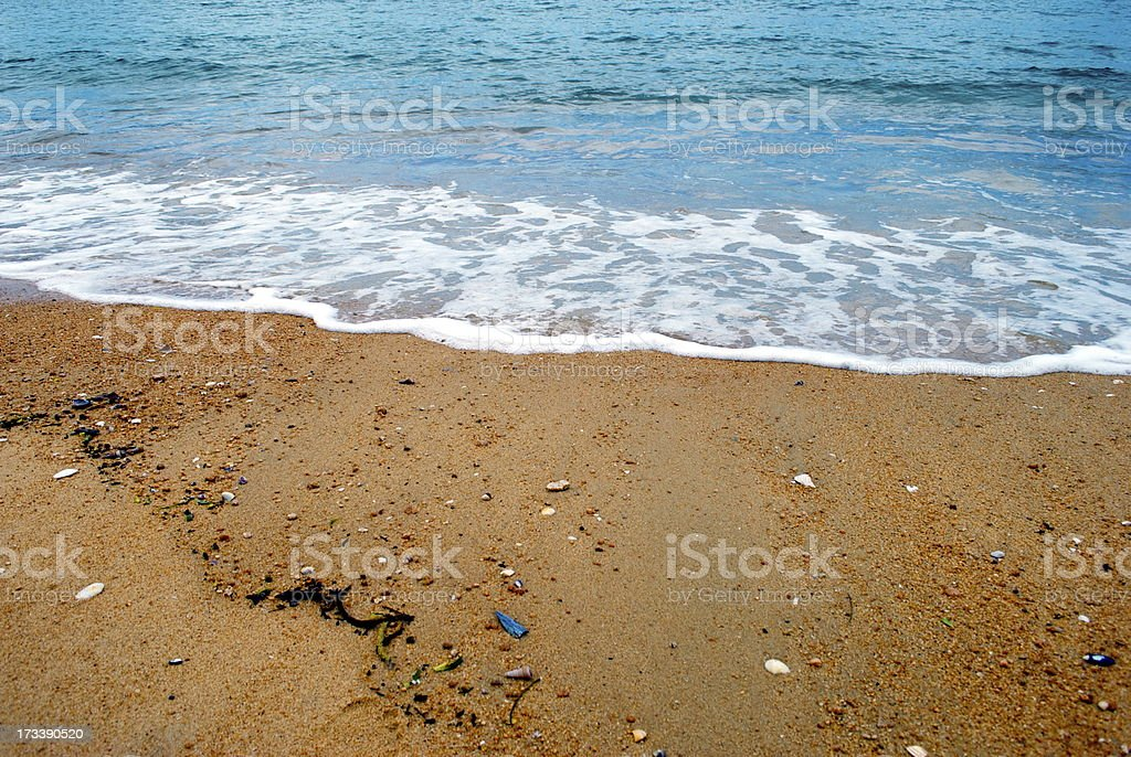 Just Sea and Sand royalty-free stock photo
