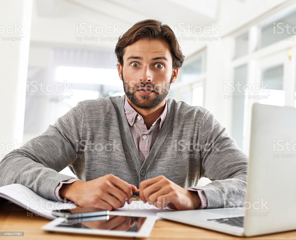 I just sent the wrong email to my boss! stock photo
