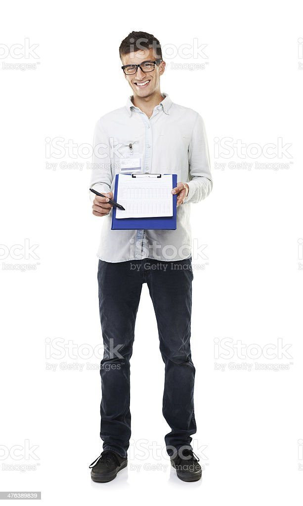 Just sign along the dotted line royalty-free stock photo