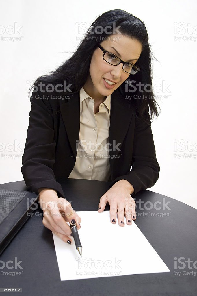 Just Sign Please royalty-free stock photo