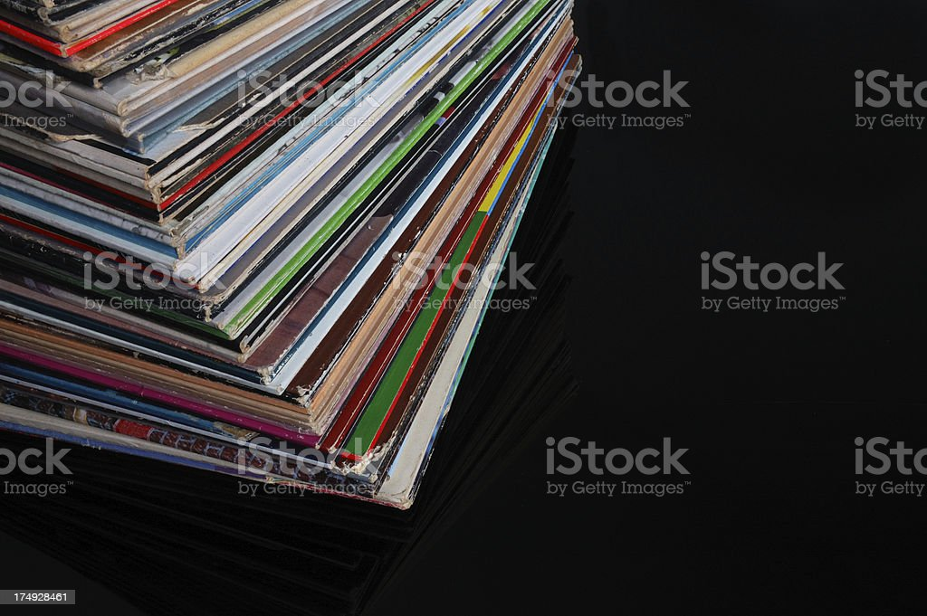 Just Take Those Old Records Off the Shelf stock photo
