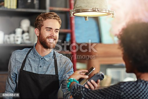 istock Just tap and go 636088418