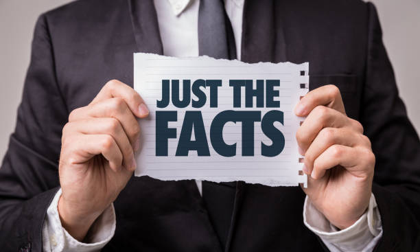 Just the Facts Just the Facts paper sign information equipment stock pictures, royalty-free photos & images