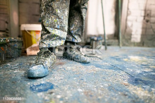 istock Just The Shoes Of A Painter 1125635593