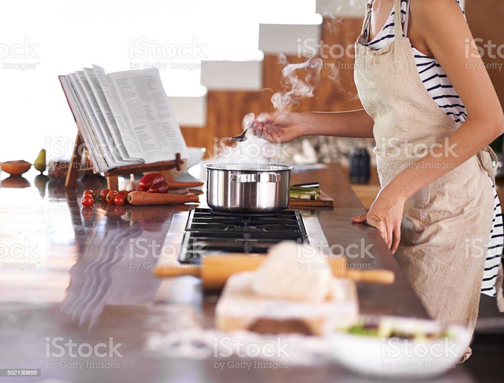 Just the way mom did it stock photo