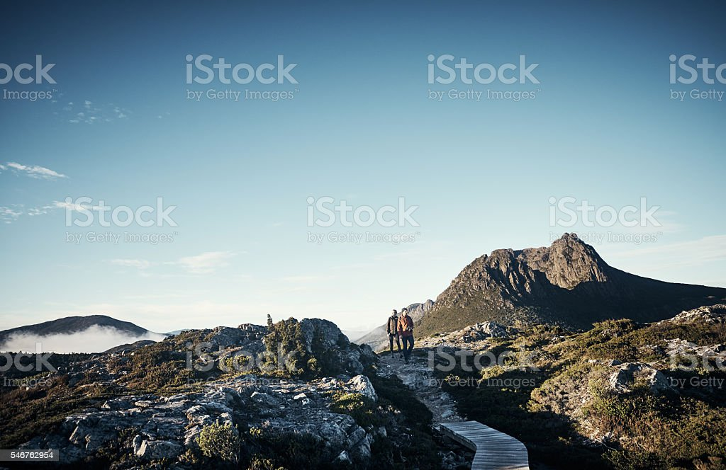 Just them and the wilderness stock photo