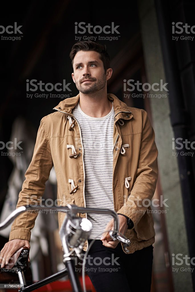 Just think how much petrol you're saving stock photo