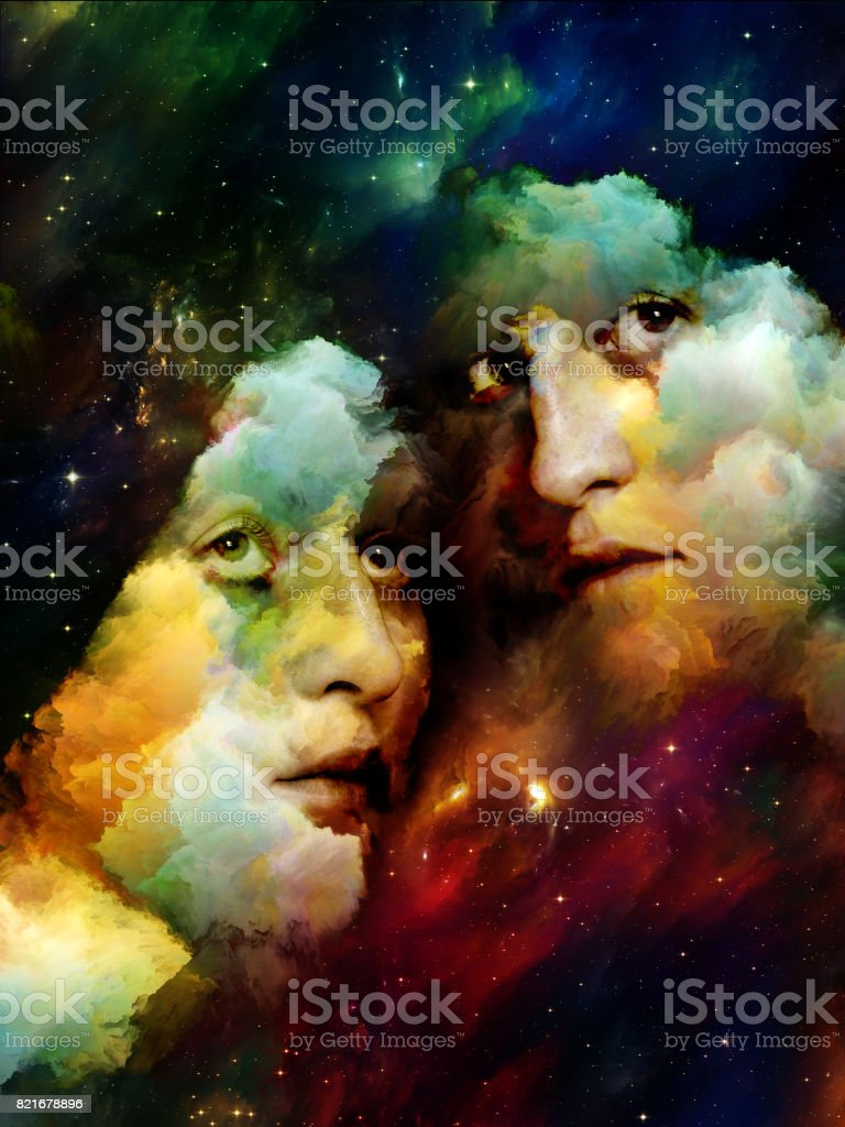 Just Two of Us in Universe stock photo