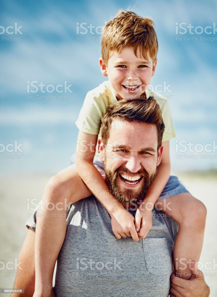 Just Us Boys Down At The Beach Stock Image