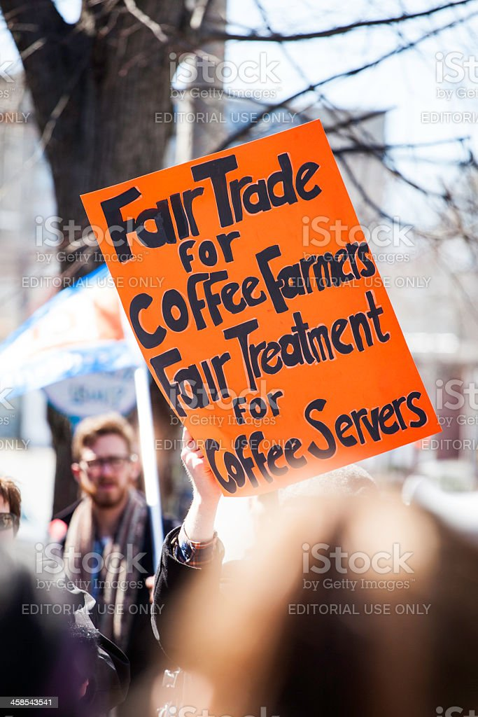 Just Us Coffee Protest royalty-free stock photo