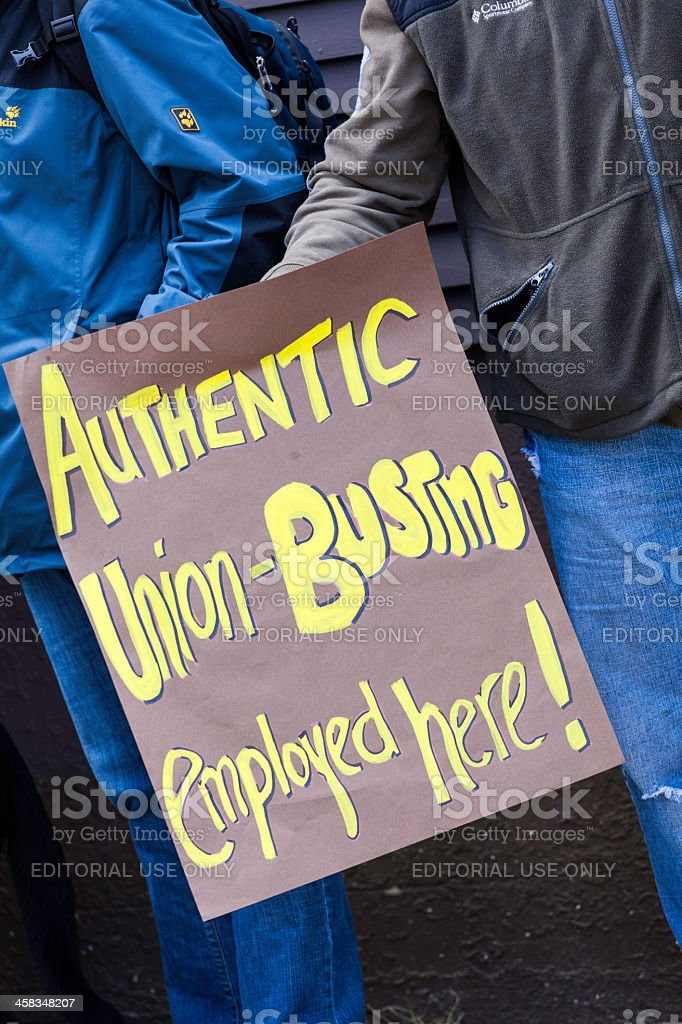 Just Us Coffee Protest Sign royalty-free stock photo