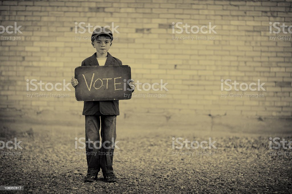 Just Vote royalty-free stock photo