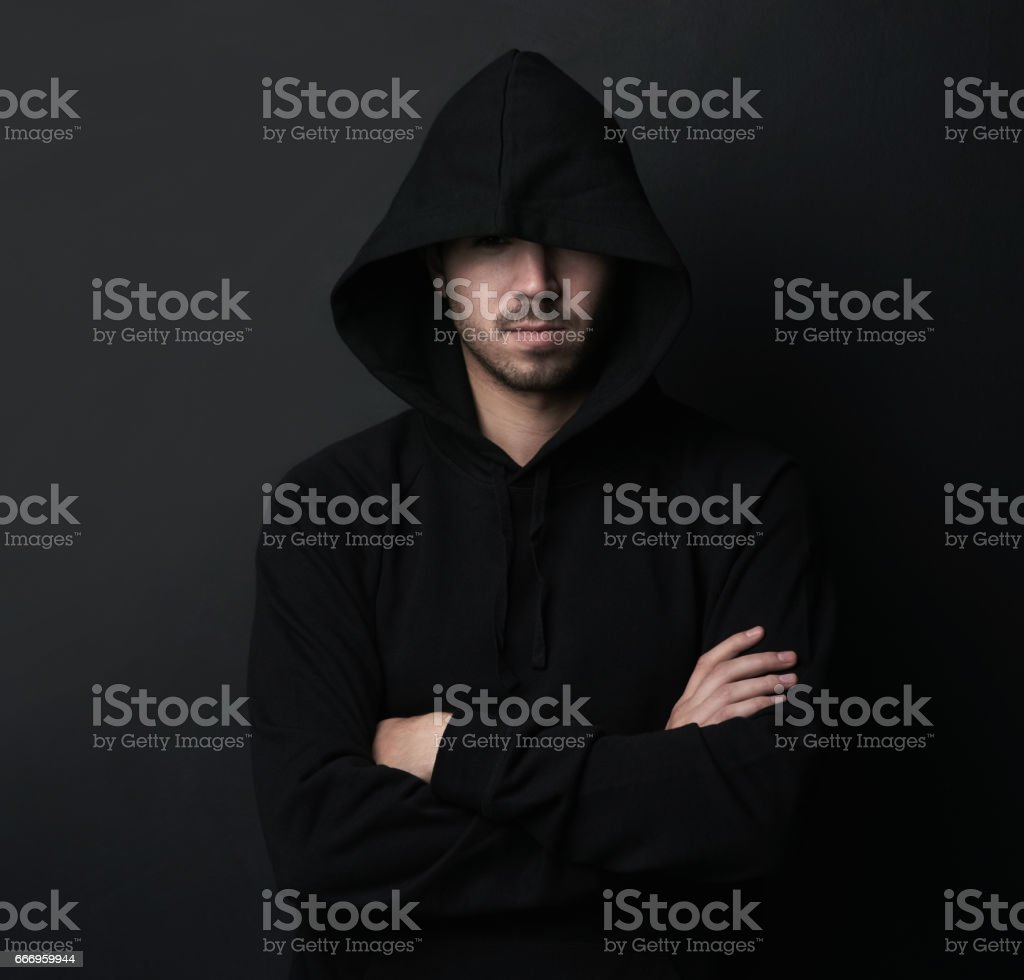 Just waiting for his next victim stock photo