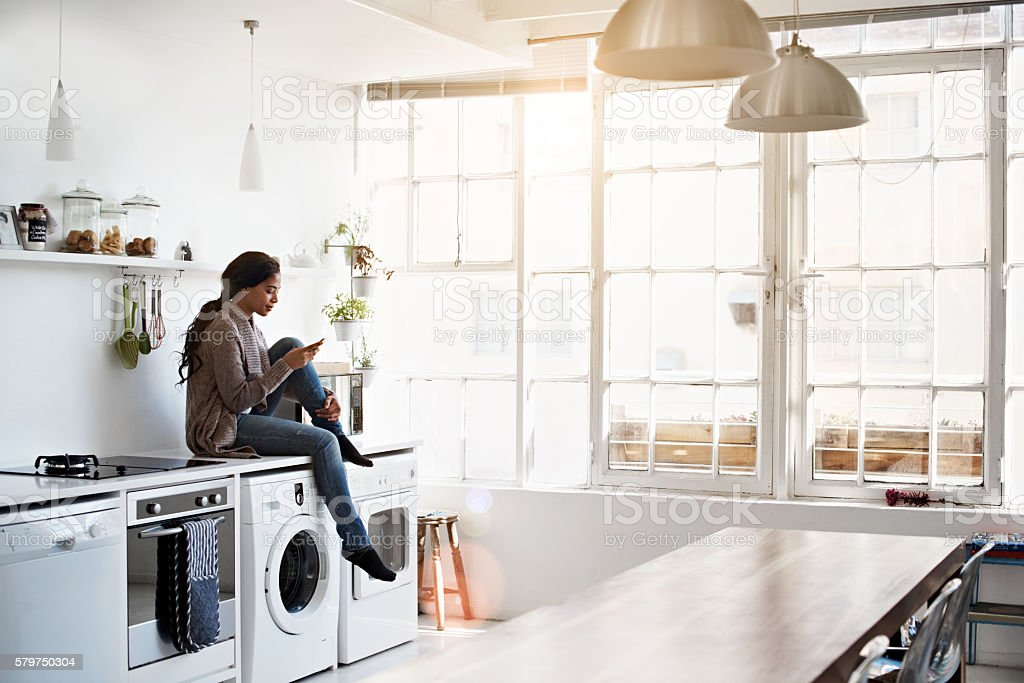 Just waiting for the washing... stock photo