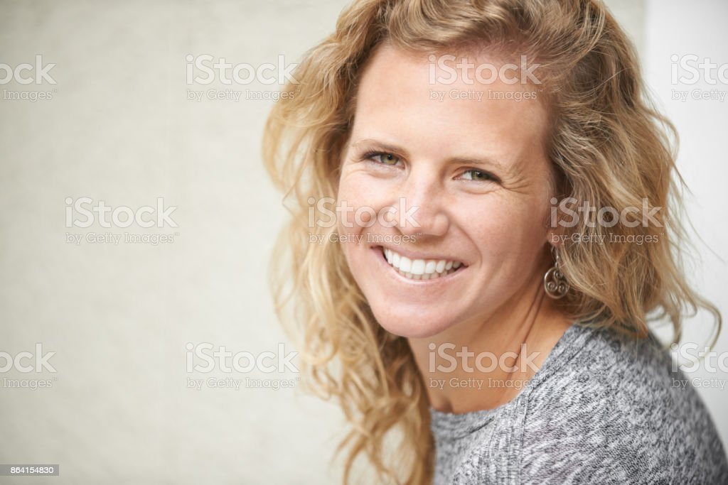 I just want to spend my days smiling royalty-free stock photo