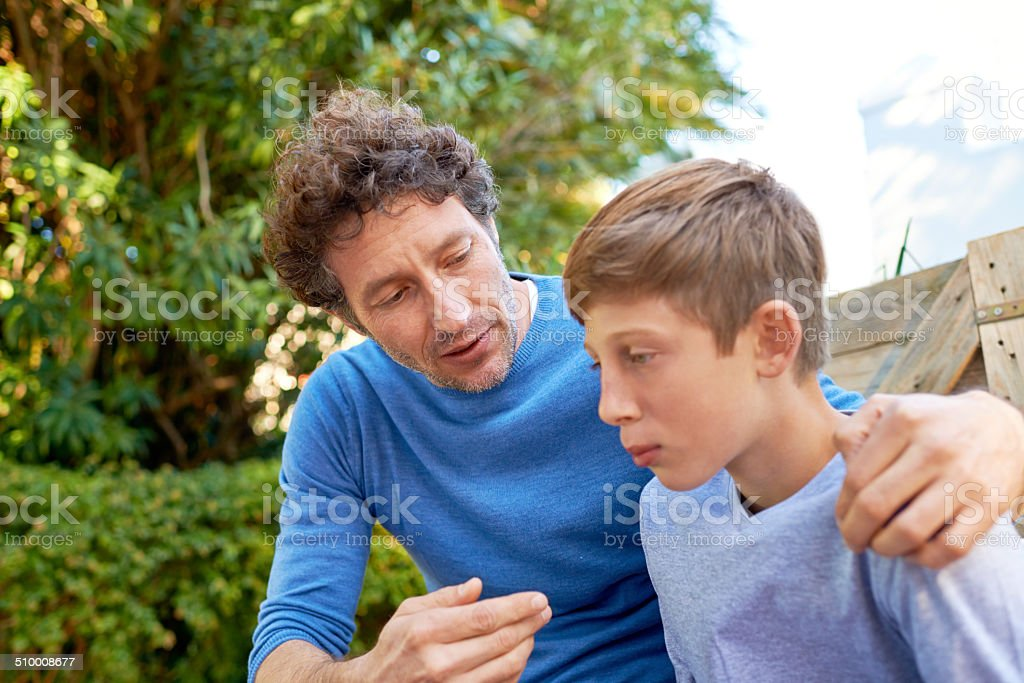 I just want what's best for you, son stock photo