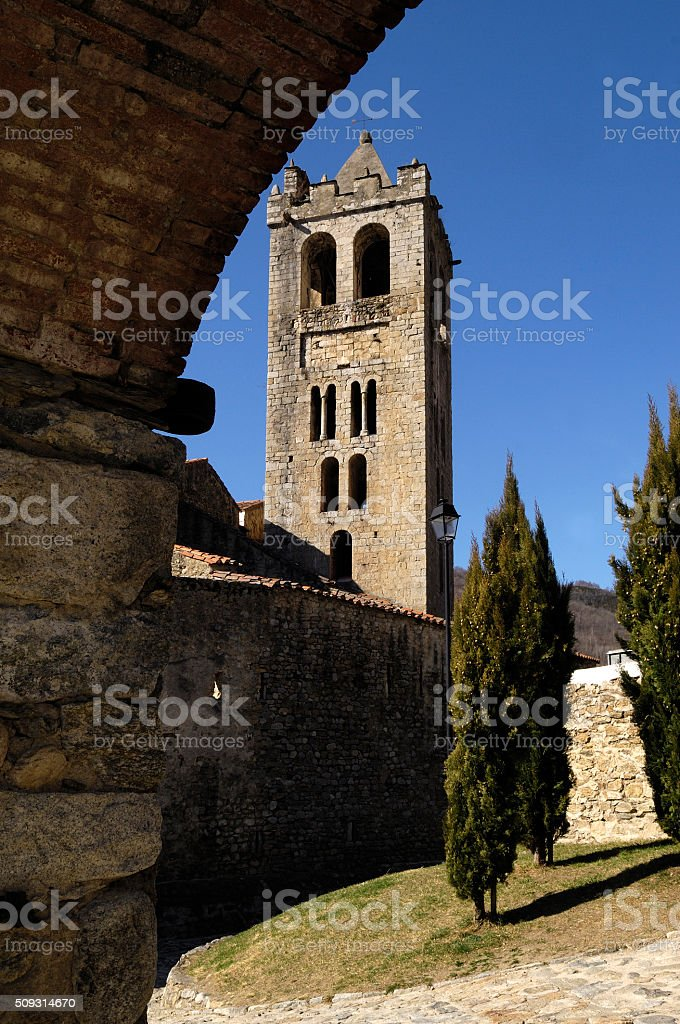 Justa and Rufina church, Prats de Mollo, stock photo