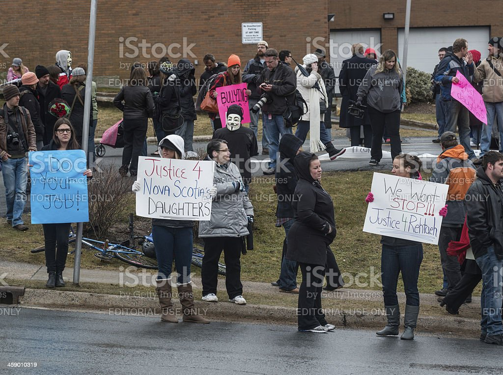 Justice for Rehtaeh Parsons stock photo
