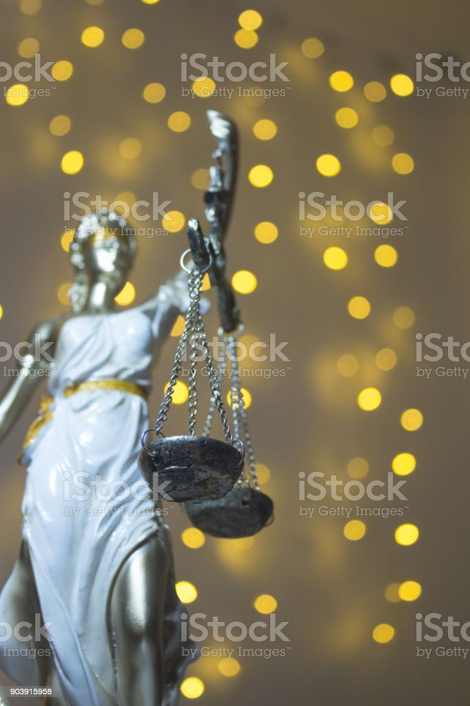 Justice goddess Themis. stock photo