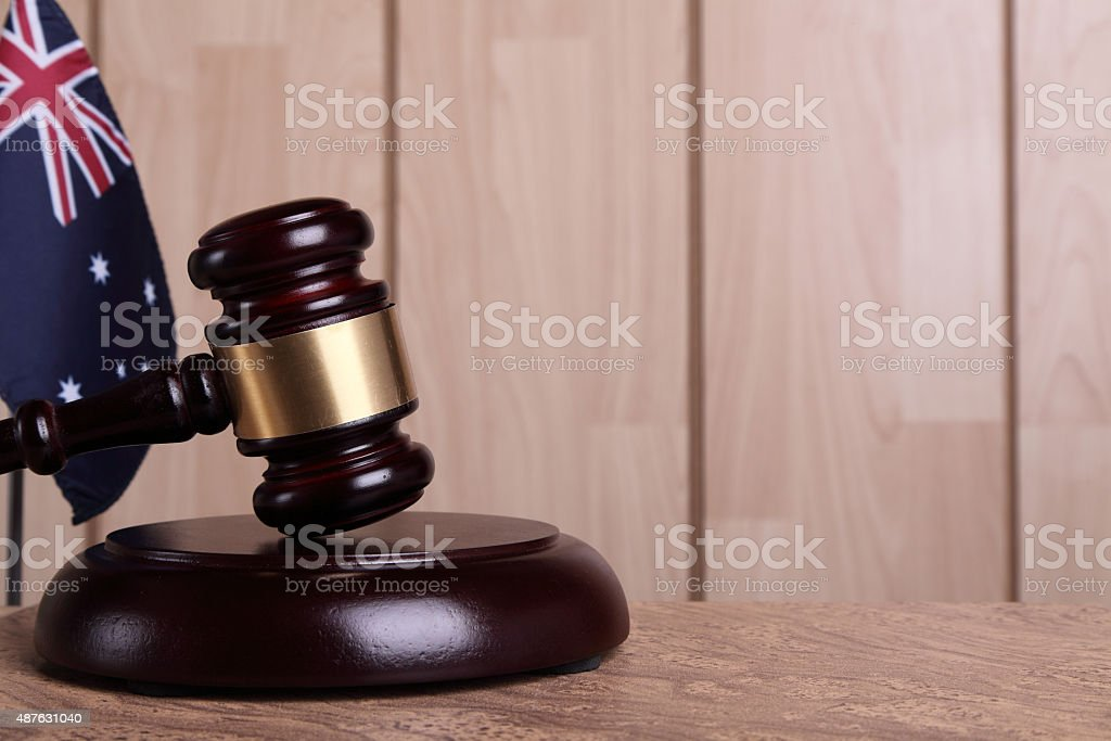 Justice in Australia stock photo