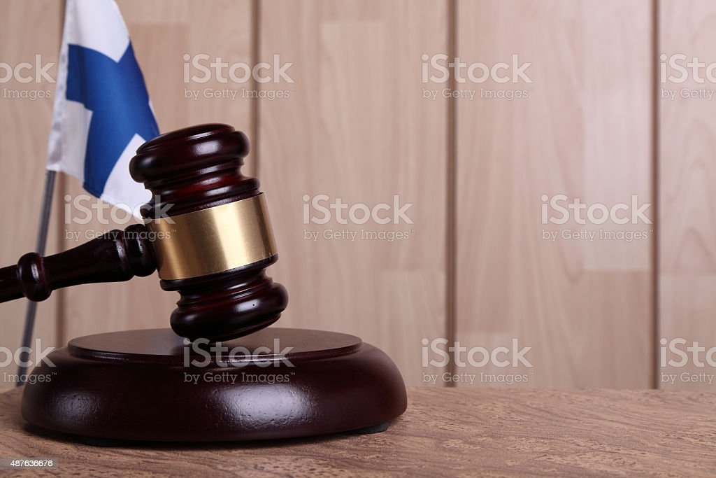 Justice in Finland royalty-free stock photo