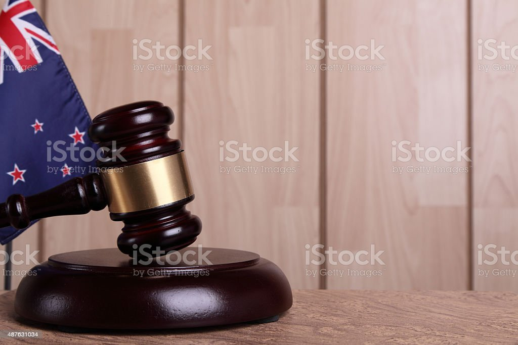 Justice in New Zealand stock photo