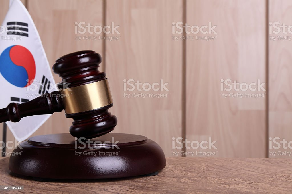 Justice in South Korea stock photo