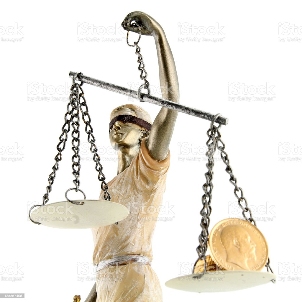 Justice is blind ( ... or maybe not ) royalty-free stock photo