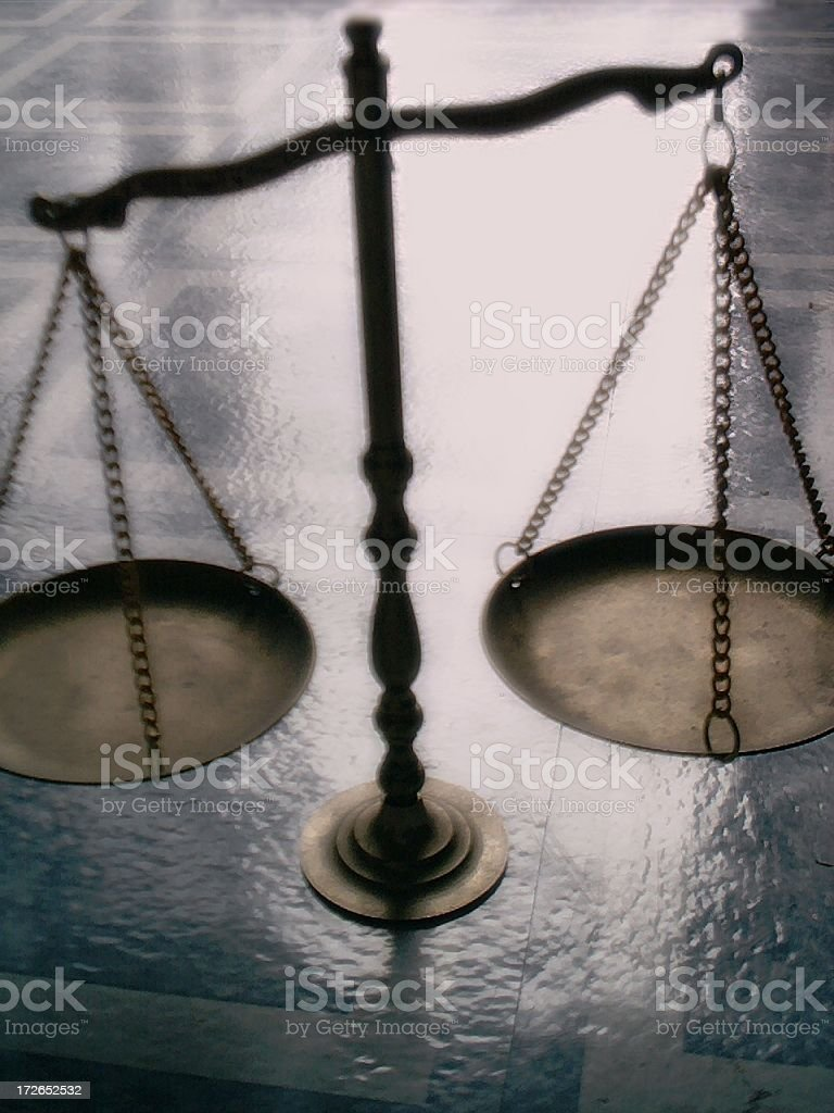 Justice Scale - Color Version royalty-free stock photo