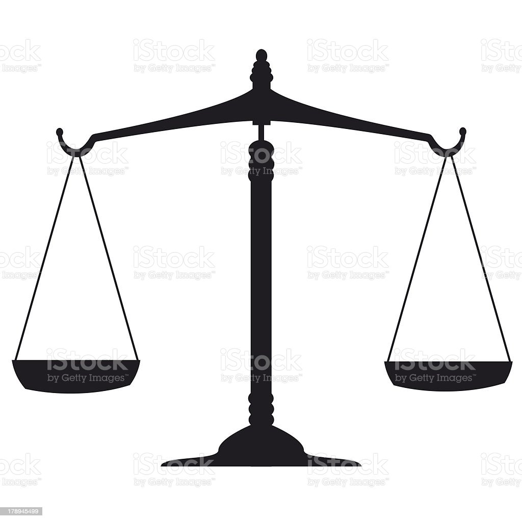 Justice, scale royalty-free stock photo