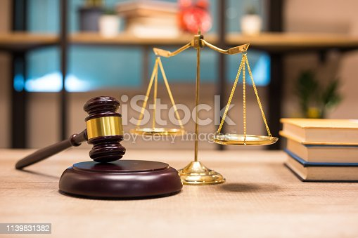 istock Justice Scales and wooden gavel. Justice concept 1139831382