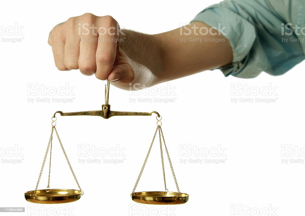 Justice Scales stock photo