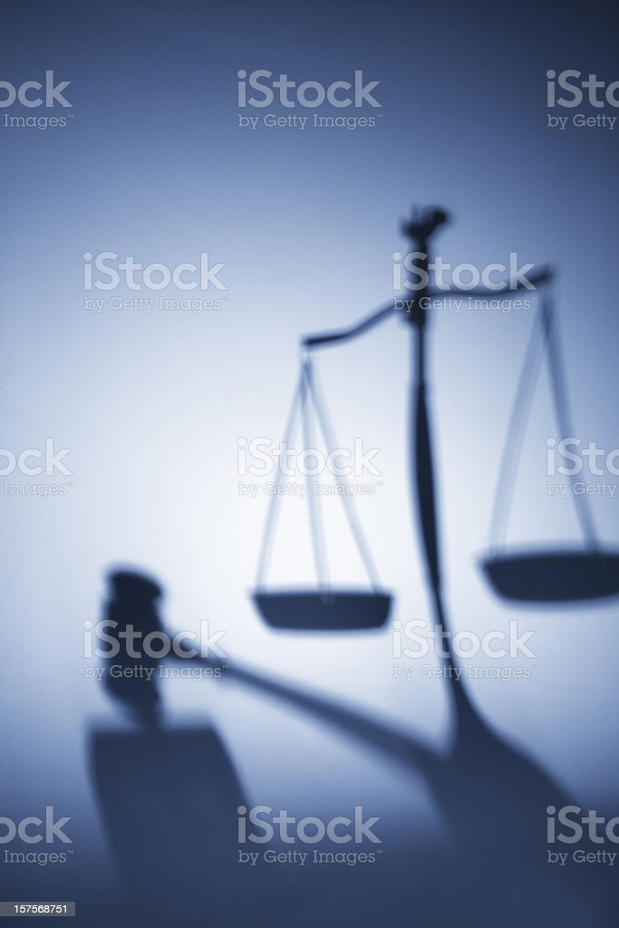 Justice Shadow royalty-free stock photo