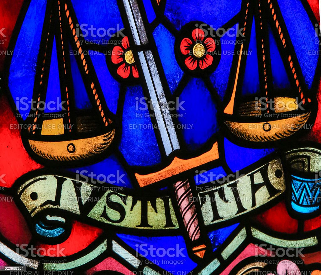Justice - Stained Glass foto royalty-free
