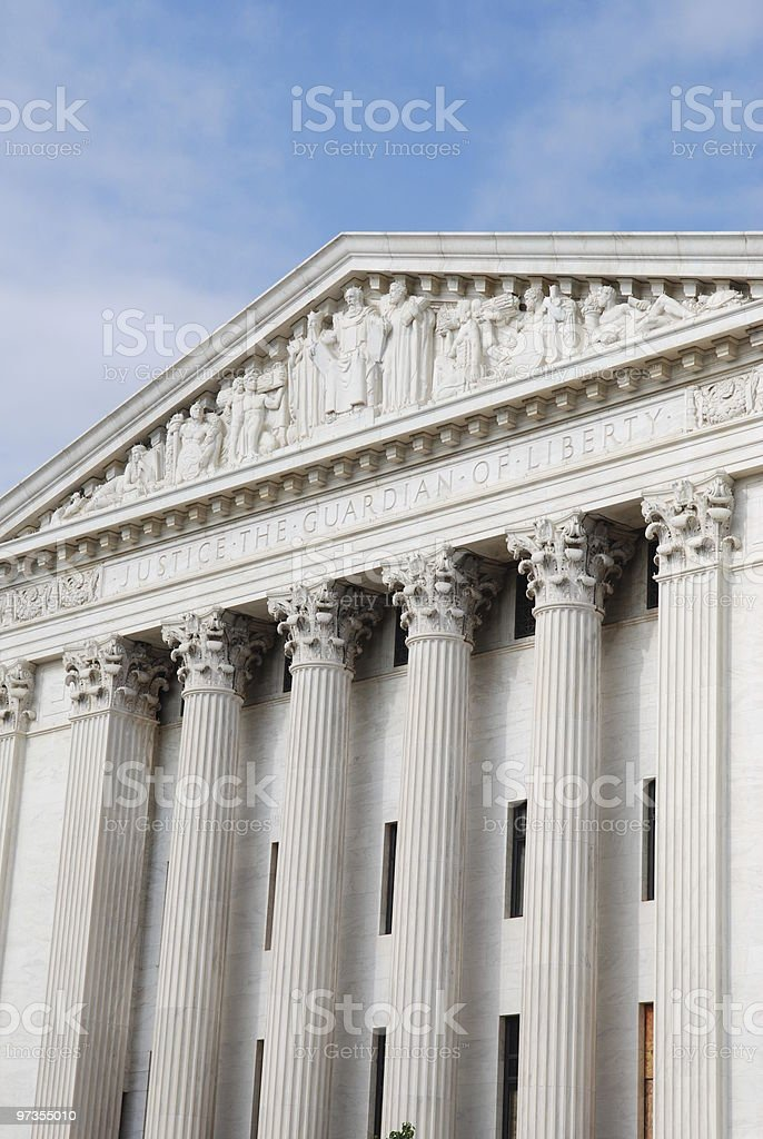 Supreme Court from the Back royalty-free stock photo