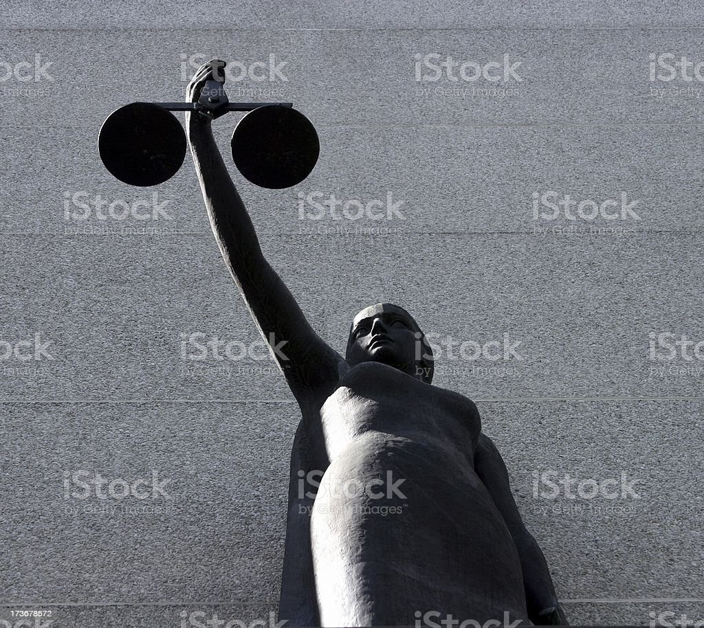 Justice Under The Law stock photo
