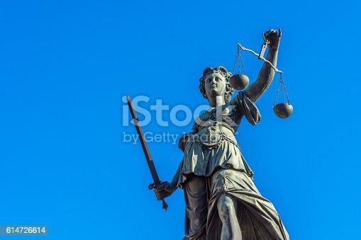 istock Justitia monument - Frankfurt 614726614